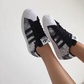 adidas superstars,shoes,adidas,smoke,addidas superstars,adidas shoes,adidas black white grey,black adidas shoes,superstar,blue,white,adidas superstars smoke,black,black and white,trainers,tumblr,tumblr shoes,cool,marble,addidas shoes marble superstars,low top sneakers