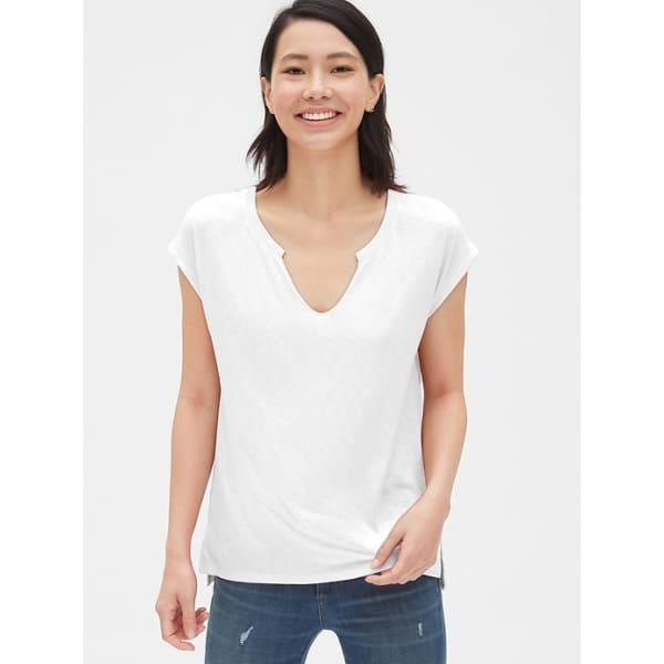 Soft Slub Notch-Neck T-Shirt