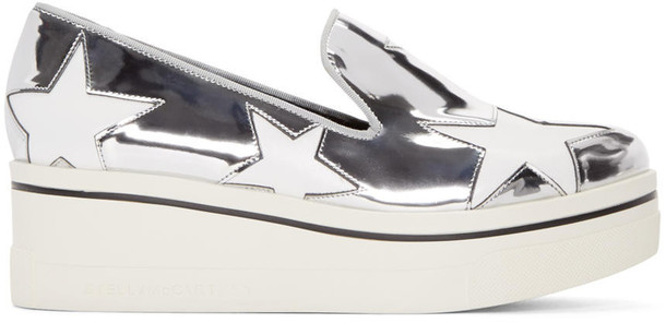Stella McCartney loafers silver shoes