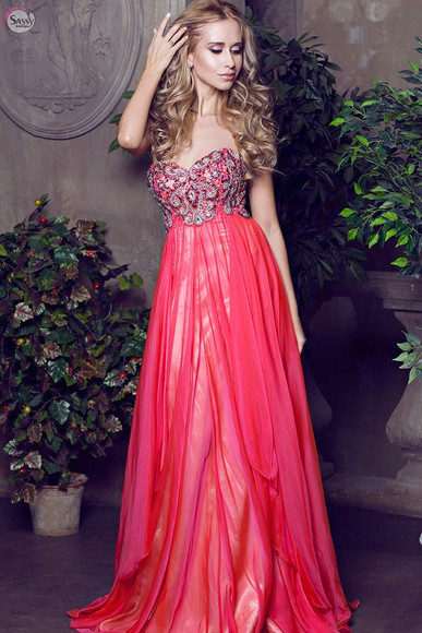prom dress evening dress beaded dress