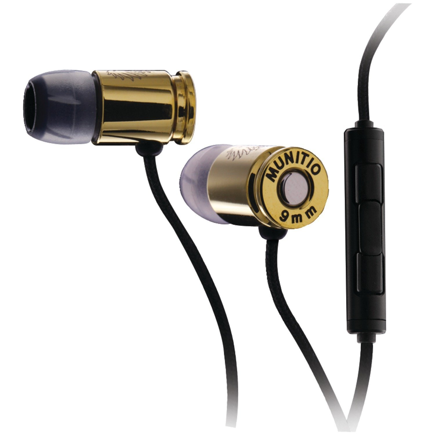 Amazon.com: Munitio NINES Tactical Earphones with 1 Button Universal Mic Control - Deep Gold: Electronics