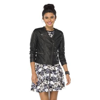 Junior's Faux Leather Jacket Black