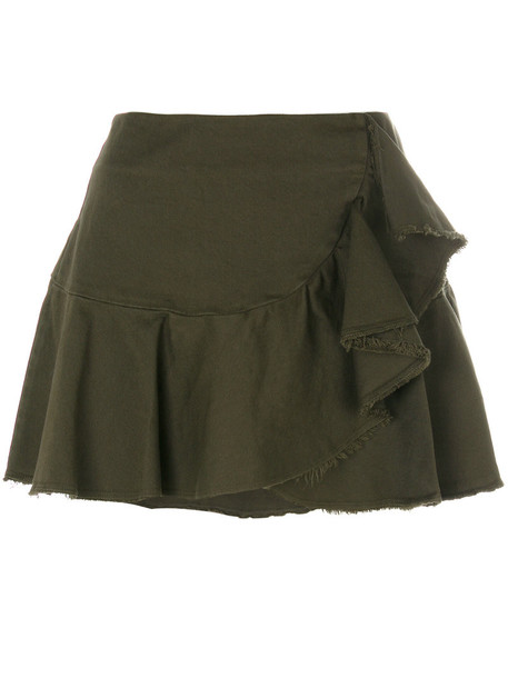 8pm skirt women spandex cotton green