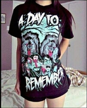 t-shirt,a day to remember,band t-shirt,band merch,merch,music,scene,emo,screamo,metal