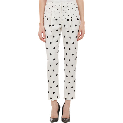 Pattern pleated trousers at barneys.com