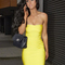 Yellow sexy dress - bqueen strapless bandage dress yellow | ustrendy