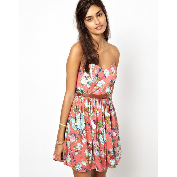 Jarlo Printed Skater Dress - Polyvore