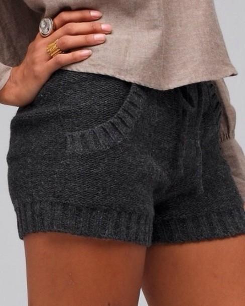 Knitted Shorts Pattern : Shorts: sweater shorts - Wheretoget