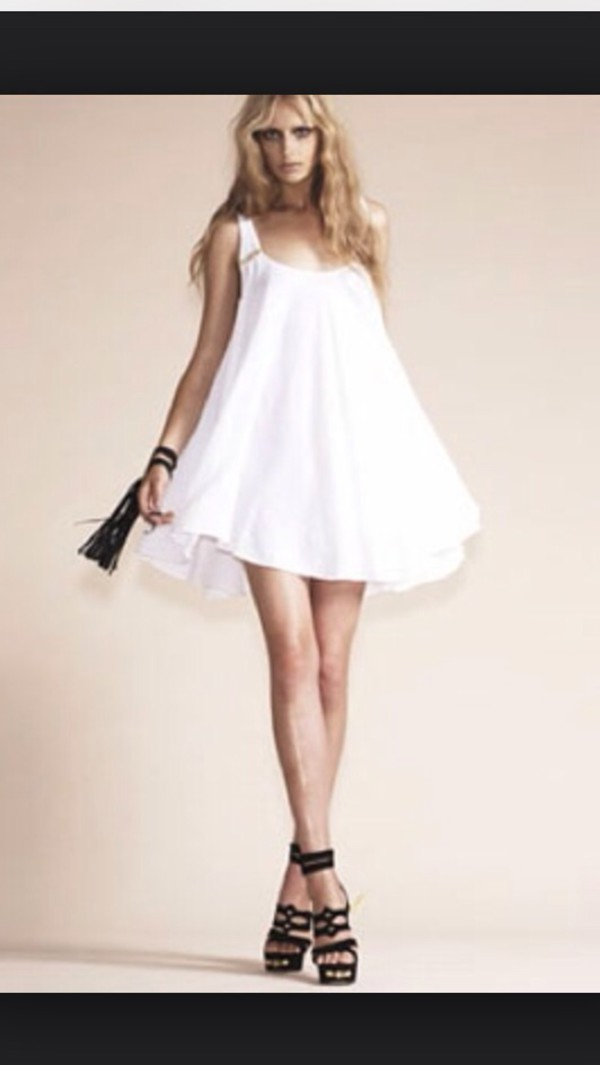 white dress mini dress boho