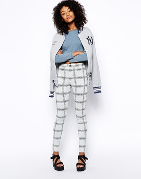 ASOS | ASOS Tube Pants in Check Print at ASOS