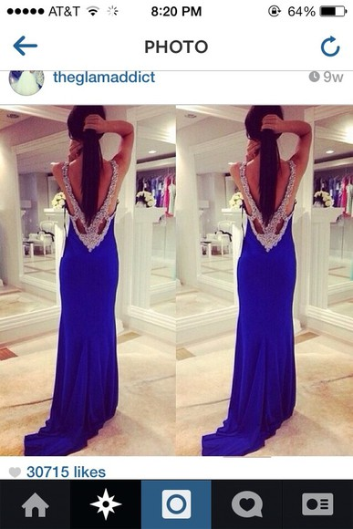 silver sequins dress blue prom dresses long prom dress blouse prom dress blue dress diamonds
