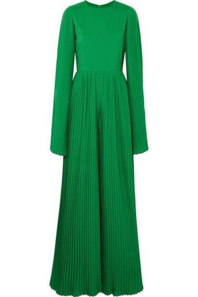 SemSem - Pleated Crepe Jumpsuit - Emerald