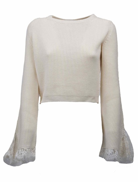 ERMANNO ERMANNO SCERVINO sweater knitted sweater nude