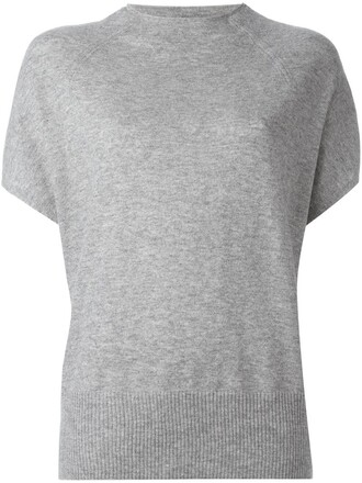 blouse grey top
