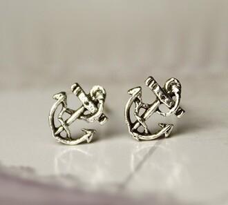 retro earrings silver