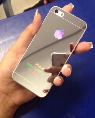 phone cover iphone 6 silver case silver cover mirrored case mirrored cover mirror iphone cover iphone iphone case iphone 6 case silver beautiful style phone iphone 5 case
