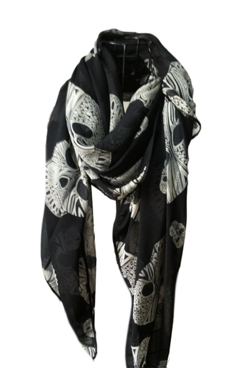 New Gem Skull Curling Scarf,Cheap in Wendybox.com
