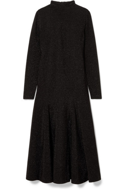 GANNI - Baxter Glittered Stretch-jersey Maxi Dress - Black