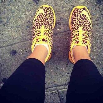 shoes leopard print nikes sneakers