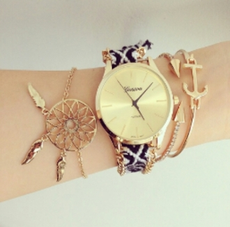 jewels gold watch dreamcatcher geneva