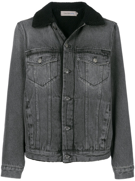 Ck Jeans jacket denim jacket denim women cotton grey