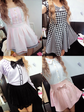dress lolita sweet pastel ruffle high waisted