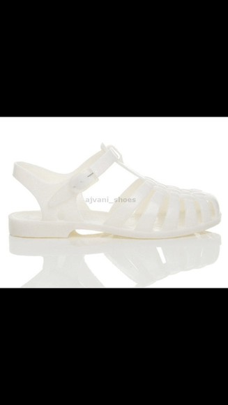 shoes white shoes jellies jelly