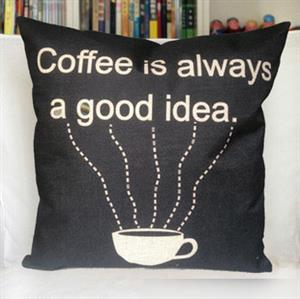 Coffee is always a good idea - Pillow Throw Cover - Designer Throw Pillow Cover - zakka-zakka