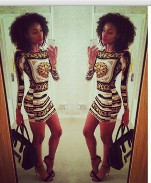 dress bodycon dress versace