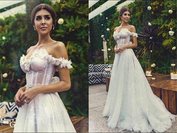 Galia Lahav Boho Wedding Dresses 2016 A Line Off Shoulder