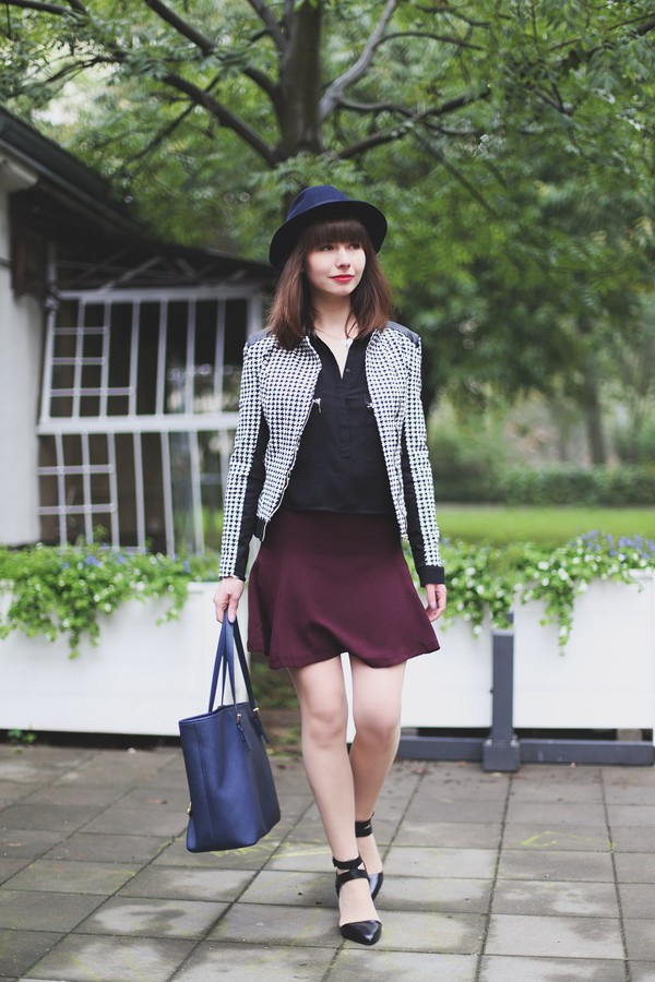 kapuczina blogger jacket jewels bag burgundy