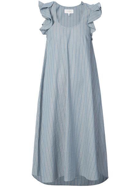 The Great dress midi dress women midi cotton blue
