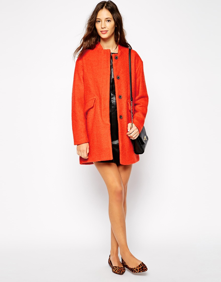 Pull&bear dolly swing coat at asos.com