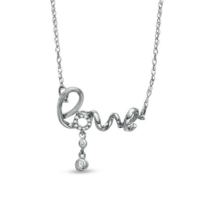 Nia sterling silver love necklace