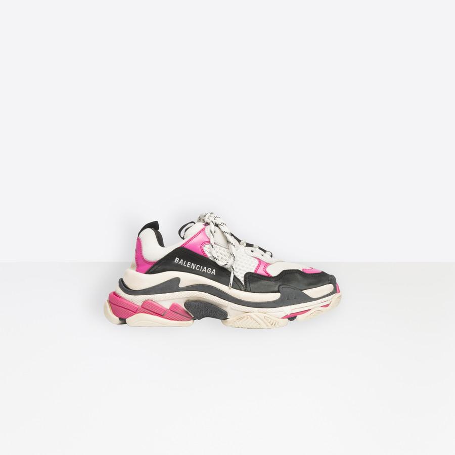 Triple S Sneaker NEON PINK for Women   Balenciaga