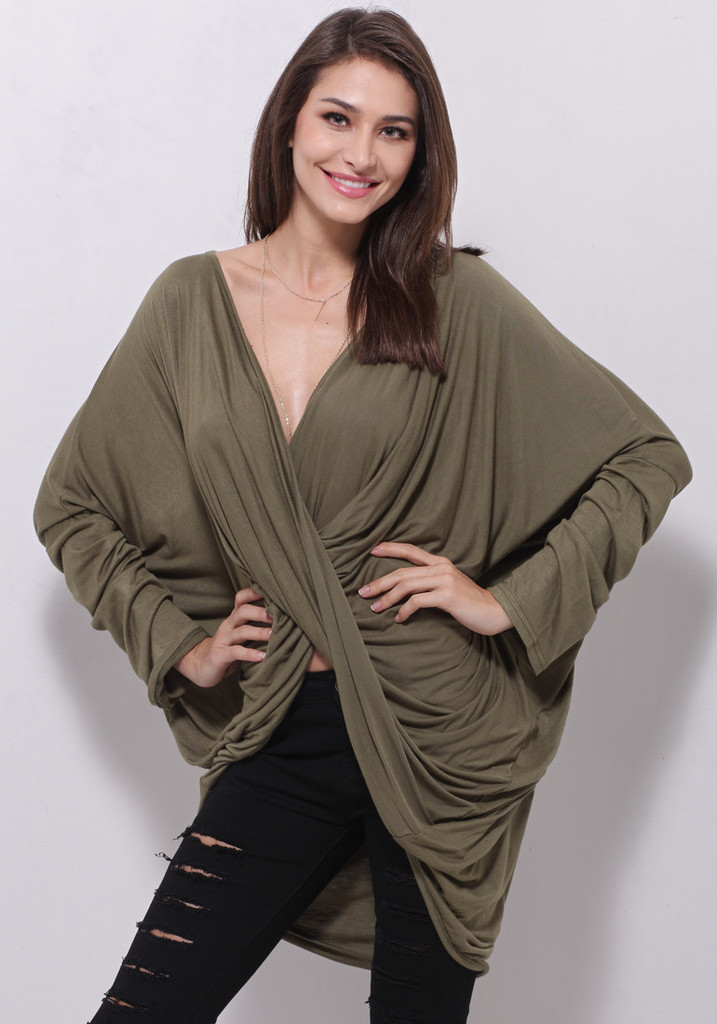 Draped Crossover Top