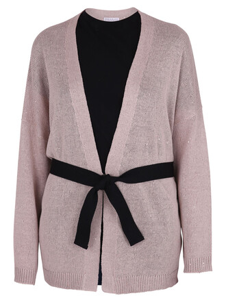 cardigan silk pink sweater