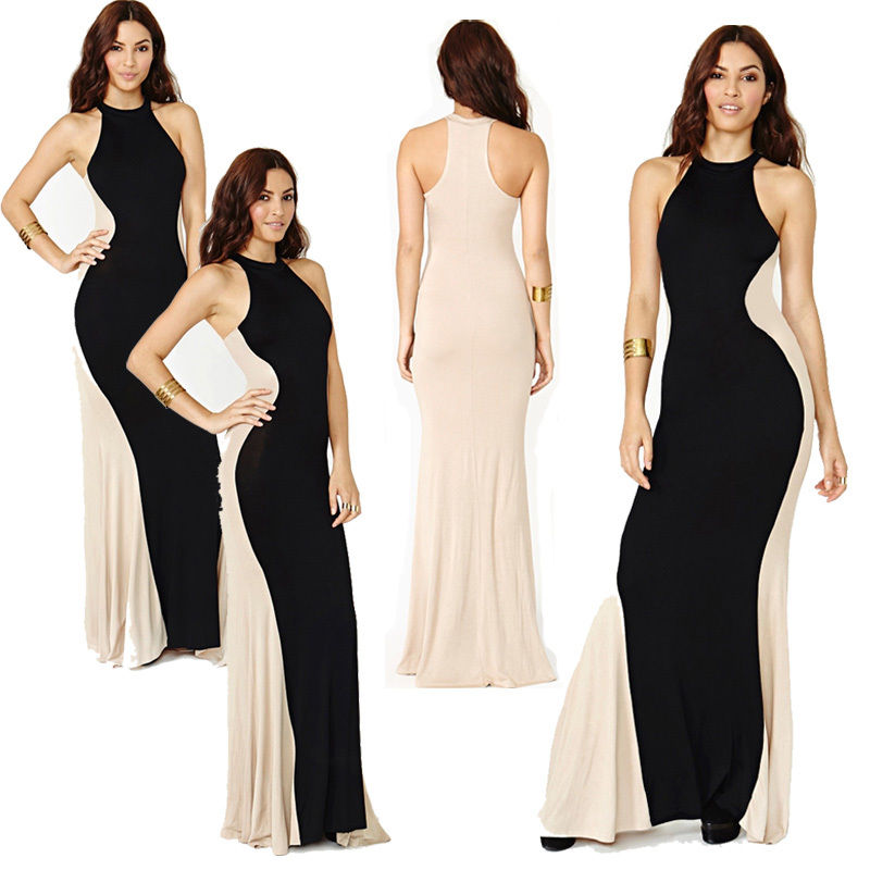 Optical Illusion Tunic Party Bodycon Sheath Long Maxi Dress Tops ...