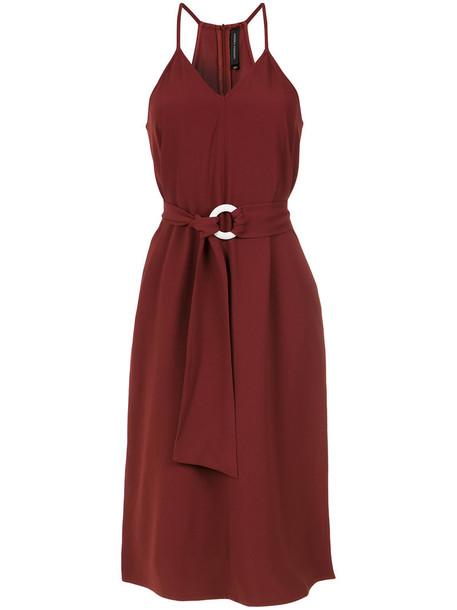dress midi dress women midi red