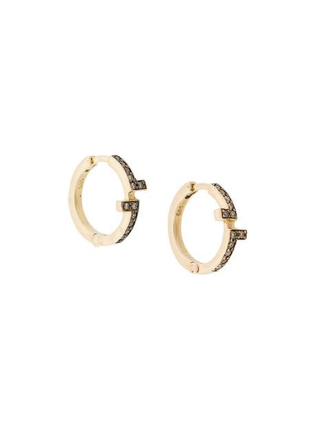 Polina Sapouna Ellis women earrings gold brown grey metallic jewels