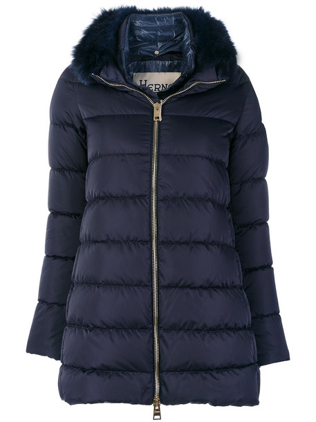 Herno jacket fur fox women blue