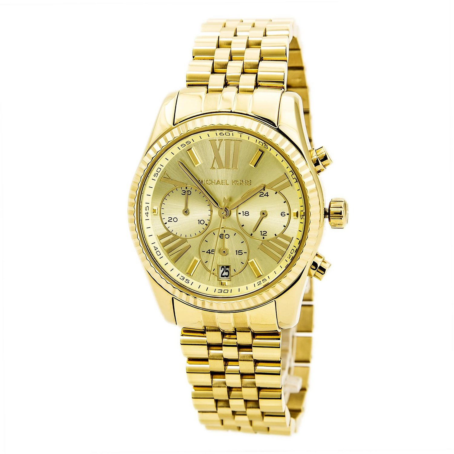 Amazon.com: michael kors watches lexington (gold): michael kors: watches
