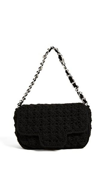 Caterina Bertini bag shoulder bag wool knit black
