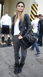 bag,chanel inspired,kalie kloss,mulberry bags,cara delevingne,leather bag,burberry,burberry women,victoria's secret model,karl lagerfeld,jacket,pants,style