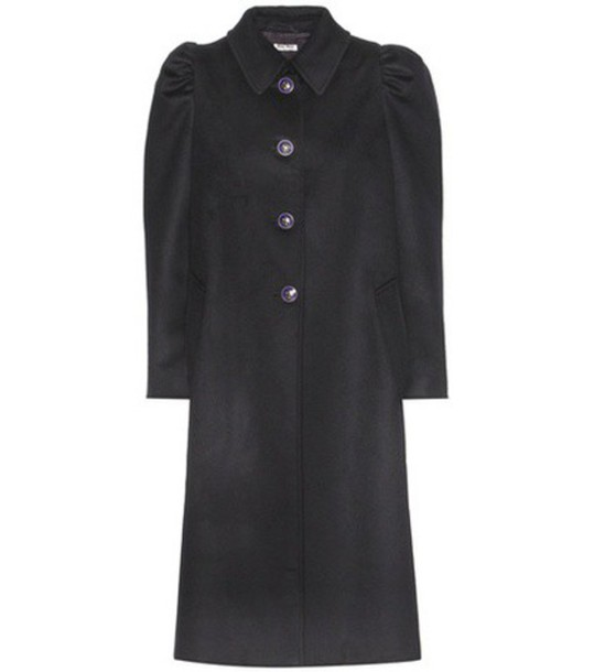 Miu Miu coat wool coat wool blue