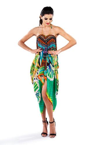 dress summer pattern fashion style trendy colorful bikiniluxe