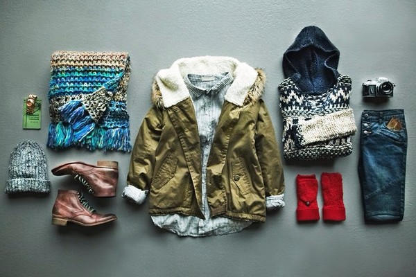 coat boots jacket scarf beanie jeans army green jacket shoes sweater