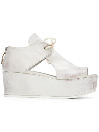 women sandals platform sandals leather white shoes