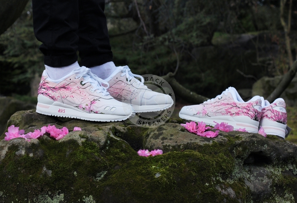 Floral Denim ASICS Gel Lyte III Running Footwear Sports