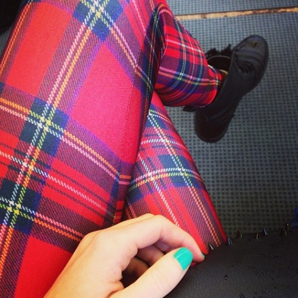 pants tartan tartan leggings leggings